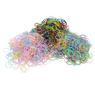 3 Lots de 160 mini-élastiques en Caoutchouc Multicolores