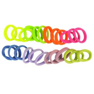 12 Élastiques en Mousse Multicolores
