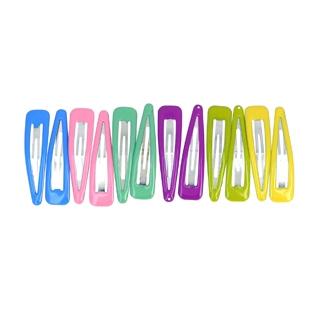 Lot de 12 barrettes clic-clac Colorées