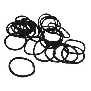 Lot de 24 élastiques Sans Métal Noirs