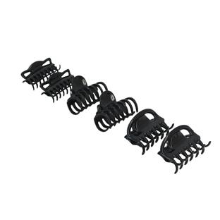 6 petites Pinces à cheveux Noires