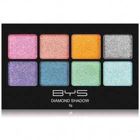 Ombres à paupières 8 couleurs BYS Maquillage