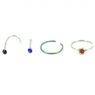 Lot de 4 Piercings Nez