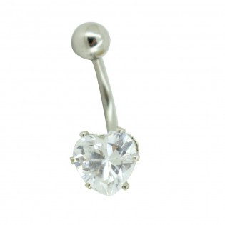 Piercing Nombril Cœur Diamant