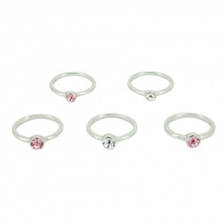 5 Bagues Strass