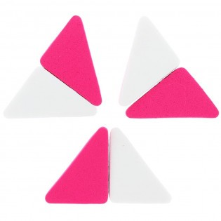 Lot de 6 Eponges Fond de Teint Triangle