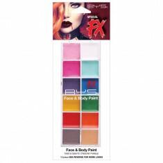 12 Fards Gras Multicolores Visage & Corps