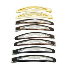 8 Barrettes Clic-Clac Assorties