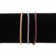 Trio de bracelets assortis cherry