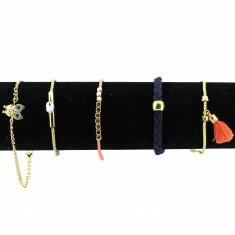 Lot de 5 Bracelets Chaines Doré