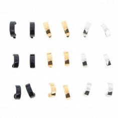 Lot de 9 anneaux Noir, Or et Argent
