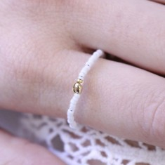 Bague LILI STAR Blanc Or