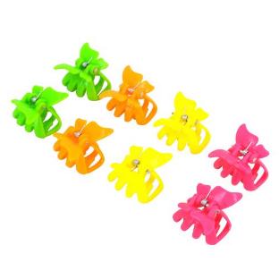 Lot de 8 mini-pinces Papillon Fluos