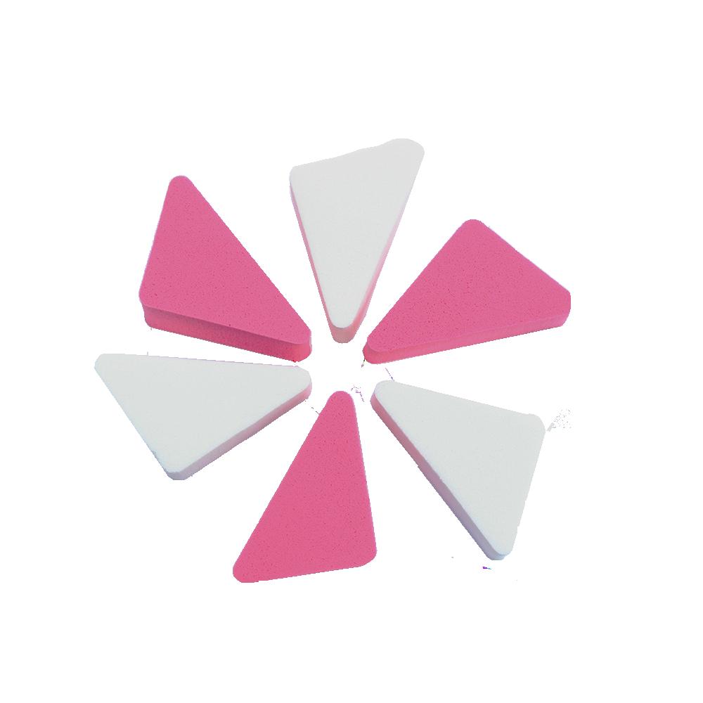 Lot de 6 Éponges Fond de teint Triangle