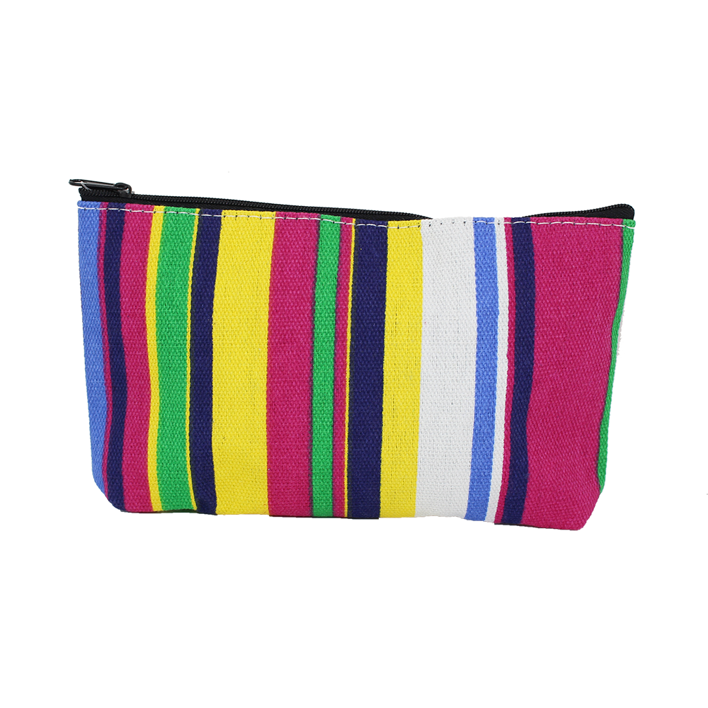 Trousse Beauté à Rayures Multicolores