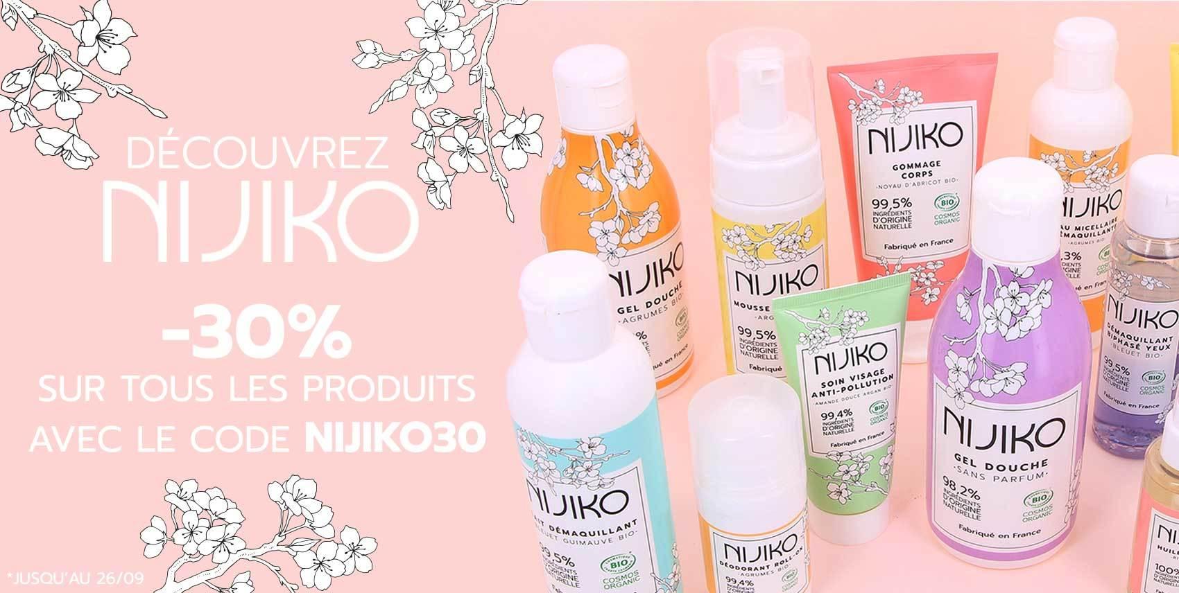 FR Slider Promo Semaine Cosmétique Bio Nijiko 30%