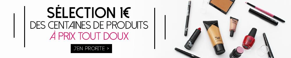 Plus de 200 produits make-up et accessoires à 1 euro seulement !