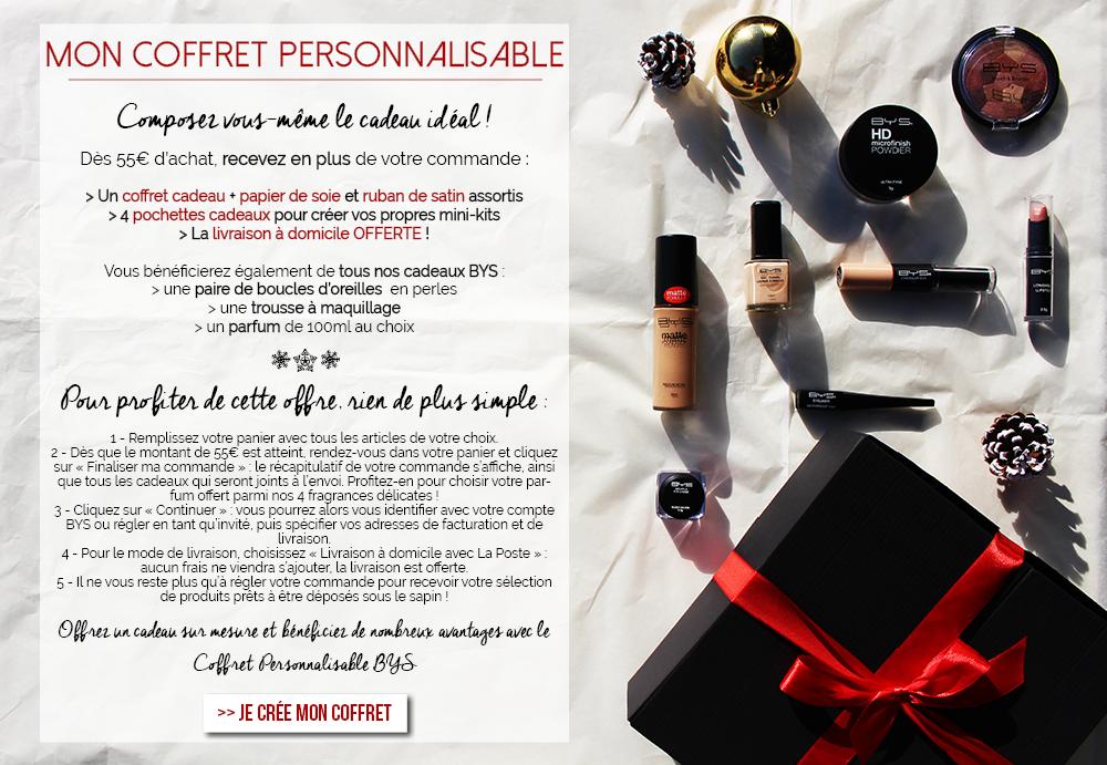 BYS Maquillage propose son coffret personnalisable pour Noël !